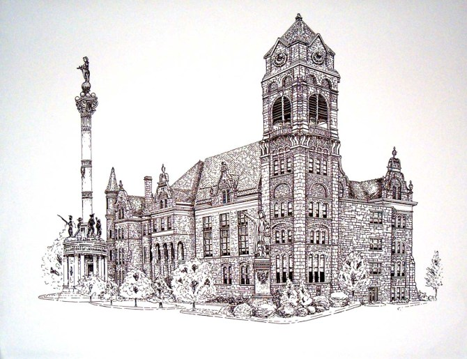 Lackawanna County Courthouse with Sailor's Memorial