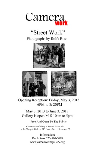ROLFE ROSS STREETWORK  POSTER