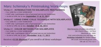 Marc Schimsky's Printmaking Workshops